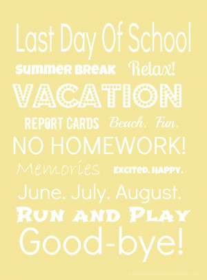 ... Last Day Of School Cartoon , Summer Images , Last Day Of School Quotes