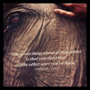 Beautiful quote in Oprah Magazine \\
