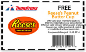 Score a coupon for a FREE Reese's Peanut Butter Cup at Thorntons ...