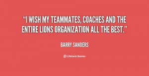 wish my teammates, coaches and the entire Lions organization all the ...