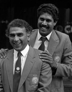 Sunil Gavaskar and Kapil Dev arrive in England