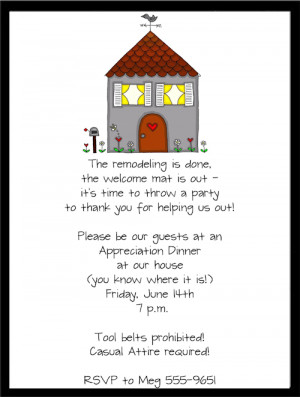 Shop our Store > New Remodel Housewarming Party Invitations