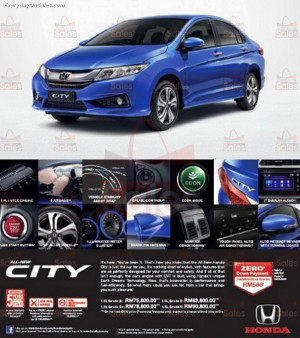 honda malaysia are having theirs honda city down payment promotion now ...