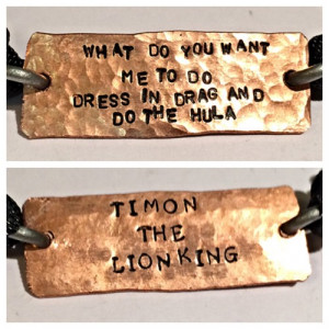The little mermaid Ariel inspired quote, two sided copper bracelet