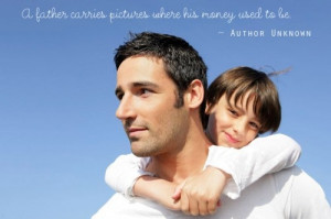 Fatherhood Quote ~ I read a similar touching quote that said