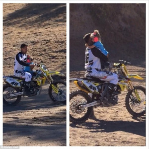 Controversial: Carey Hart has come under fire for riding his bike with ...