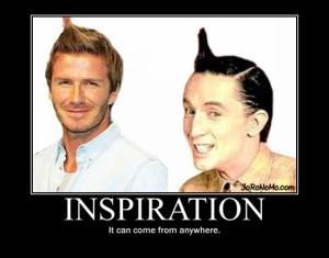 inspiration can come from anywhere david beckham ed grimley