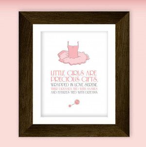 ... printable. Featuring ballet tutu illustration and little girl quote
