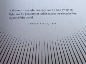 the night circus Opening Quote - Oscar Wilde