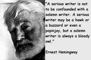 Ernest hemingway famous quotes 5