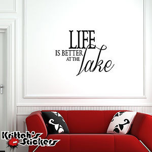 Life-is-Better-at-the-Lake-Vinyl-Wall-Decal-Quote-home-design-decor ...