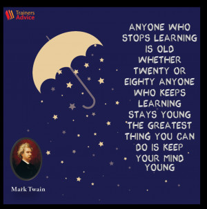 Trainer's Quote of the Week by Mark Twain