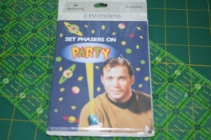 ... Trek Party Invitations Mint Captain Kirk William Shatner Birthday 1993