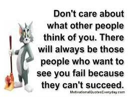 don't care what others think quote