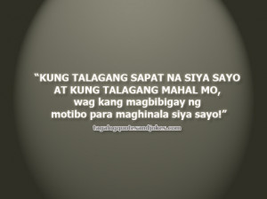 ... love tagalog inspirational letting quote love quotes tagalog sad