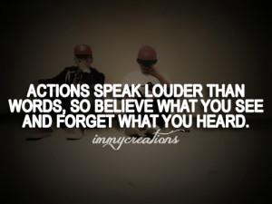 Actions speak louder Facebook quotes tumblr