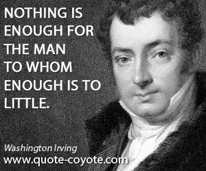 Washington Irving Mother Quote