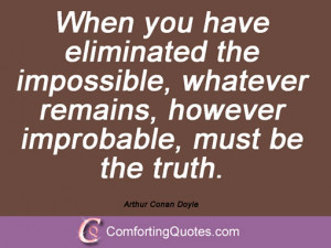 Quotes And Sayings By Arthur Conan Doyle