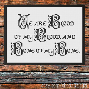 Outlander Quote Jamie Fraser Cross Stitch Pattern PDF Download