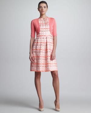 Lela Rose Classic Silk Knit