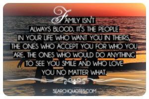 True.Family isn't always blood