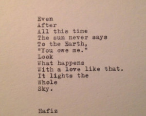 Hafiz Quotes Hafiz quote typed on