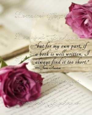 Well Written Book: A Jane Austen Quote Fine Art Print for the Book ...