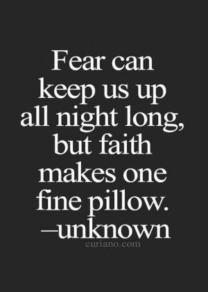 Quote about Fear~unknown