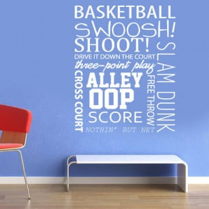 Wall Decals - basketball quotes - Wall Art - basketball positions ...