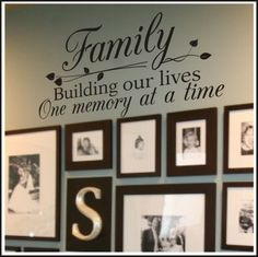 Family Wall Quote For Homes -- I've been admiring these wall quotes ...