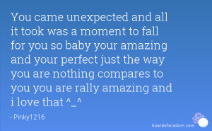 to fall for you so baby your amazing and your perfect just the way you ...