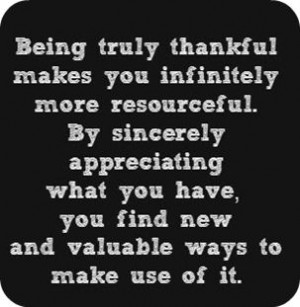 being resourceful is about fully appreciating what you have