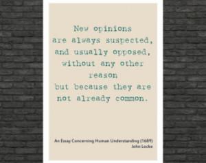 Philosophy art - John Locke inspira tional quote - educational poster ...