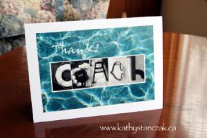 Thanks COACH Art Card for your swim coach