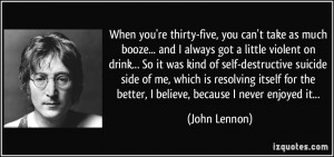 Self Destructive Quotes More john lennon quotes