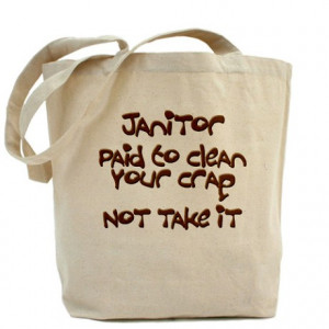 Clean Freak Gifts Bags Totes Funny Janitor Tote Bag