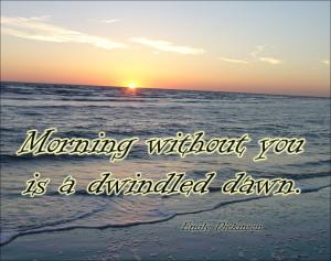 morning quote sunrise sea