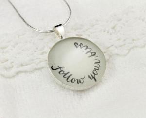 Necklaces > Follow Your Bliss Inspirational Necklace - Unique Quote ...