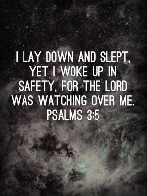 Lay down & sleep in peace