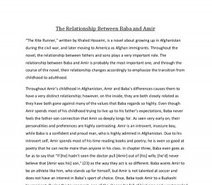 The Kite Runner Essay Example