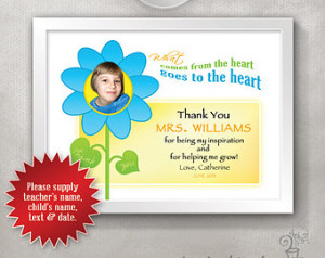 Thank You Quotes For Teachers From Kids Custom thank you teacher