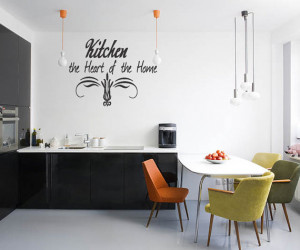 Kitchen Wall Quote Vinyl Decal Lettering Decor Sticky Vinyl Removable ...