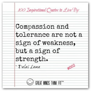 dalai lama quote 002 compassion and tolerance are not a sign of ...