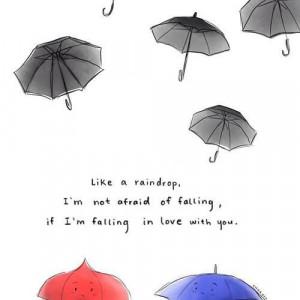pixar short - blue umbrella