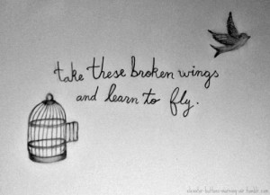 Trova e segui post taggati #take these broken wings and learn to fly
