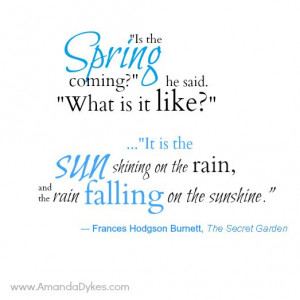 Spring Is Coming Quotes Book quote pic --