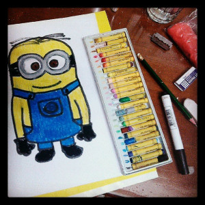 cute, despicable me, drawing, funny, haha, lol, quotes, swag