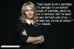 ... is impossible to live without failing at something unless you live so