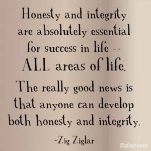 Honesty and integrity are absolutely essential for success in life ...