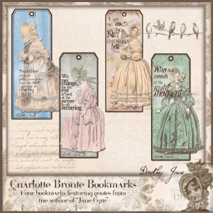 ... Bookmarks, Jane Eyre Bookmarks, Gifts for her, Charlotte Bronte Quotes